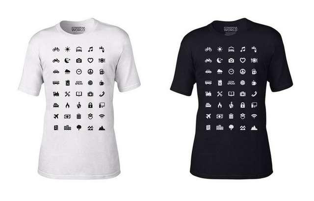 Iconspeak World: La camiseta que te ayuda a viajar por el mundo sin conocer ningún idioma!