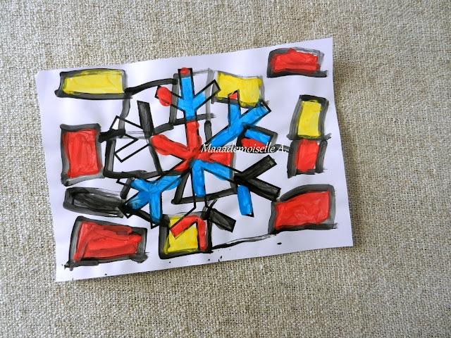 || Activité : Flocon de neige à la manière de Piet Mondrian (L'art est un jeu d'enfant # 11)