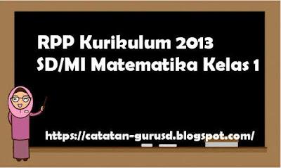 RPP Kurikulum 2013 SD/MI Matematika Kelas 1