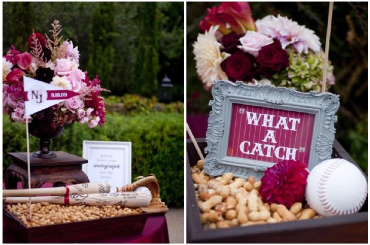 Baseball Wedding Gifts: Home Confetti: Merry Monday: Baseball Themed Wedding