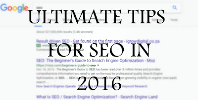 ULTIMATE TIPS FOR SEO IN 2016
