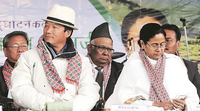 Bimal Gurung with West Bengal Chief Minister Mamata Banerjee