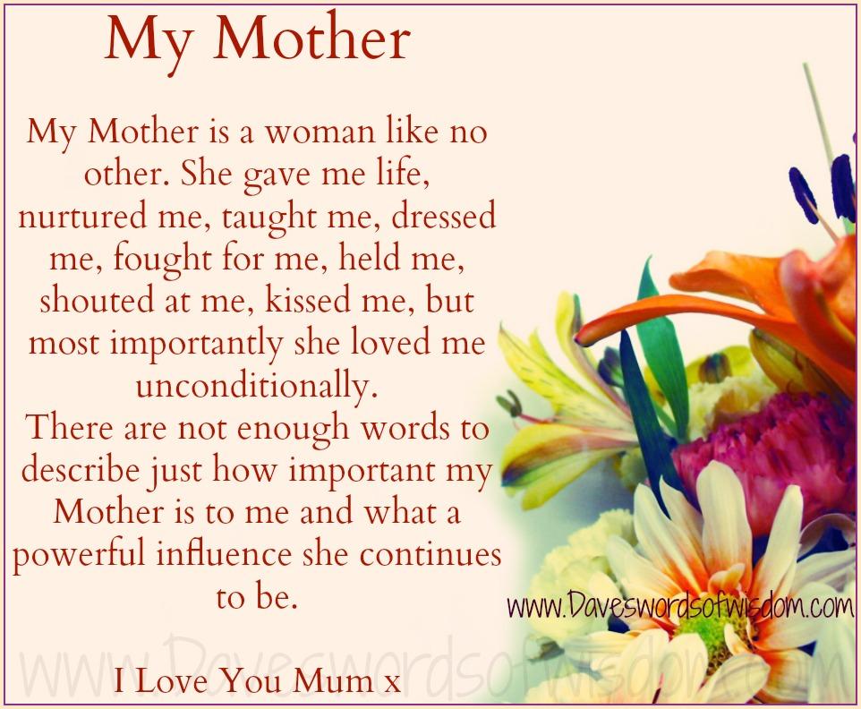 My Mom My Friend Poem 42