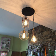 Simple Yet Stunning Lighting Antique Chandelier With Wire Cage