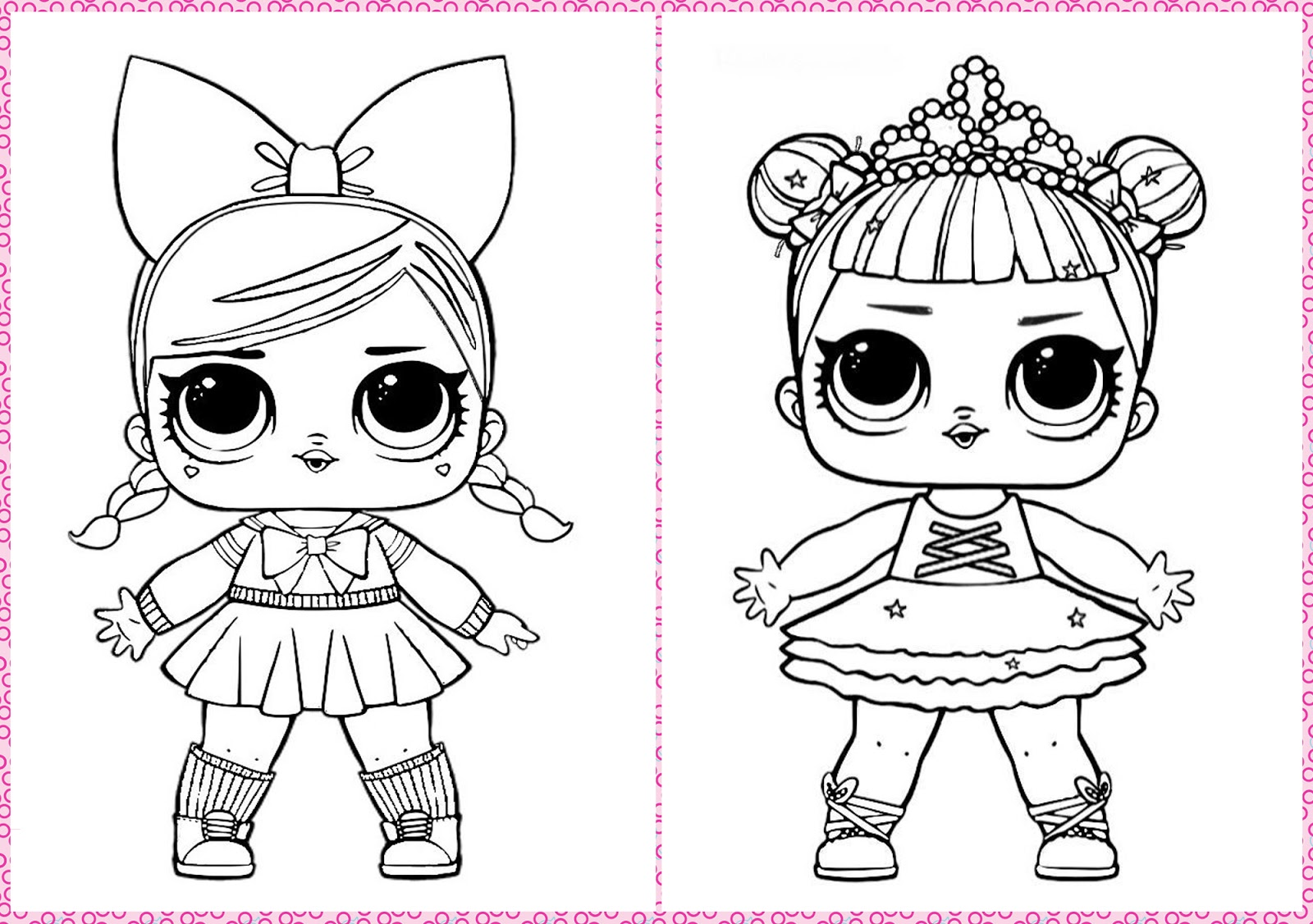 Boneca LOL Para Colorir Printables And Templates Colorir Lol E