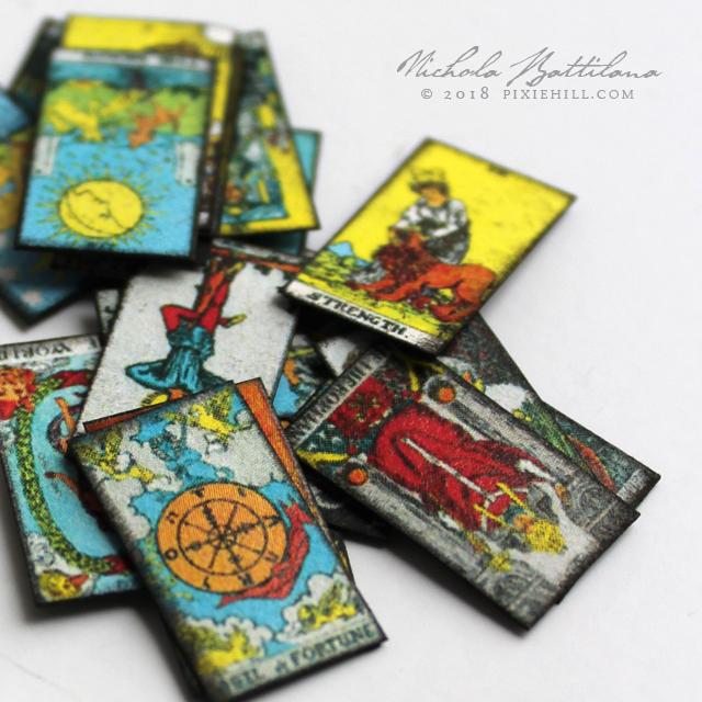 Tarot cards miniatures - Nichola Battilana pixiehill.com