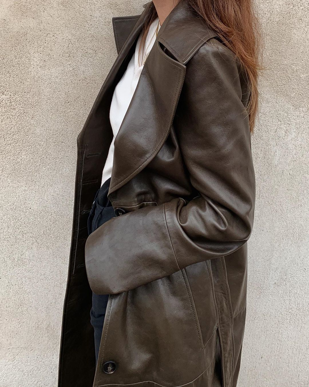 This Founder Wore the Perfect Seasonal Outfit – Leather Trench Coat