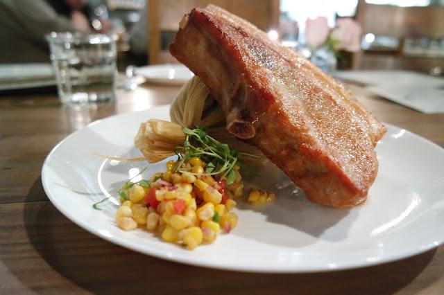 Pork Chop, Huitlacoche Tamale