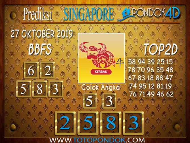Prediksi Togel SINGAPORE PONDOK4D 27 OKTOBER 2019