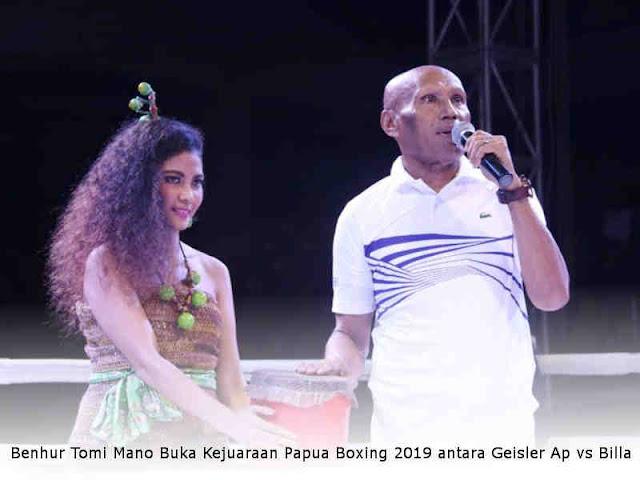 Benhur Tomi Mano Buka Kejuaraan Papua Boxing 2019 antara Geisler Ap vs Muhammad Billa