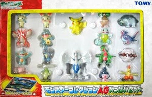 Squirtle  figure Tomy Monster Collection AG 18 pcs set