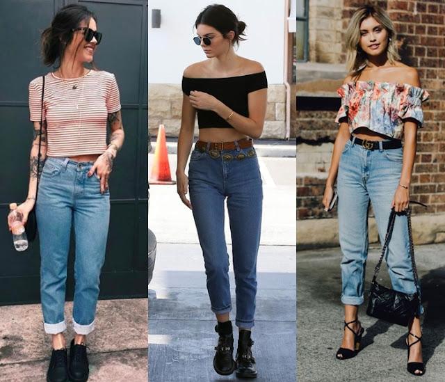 Resultado de imagem para imagens de looks com mom jeans