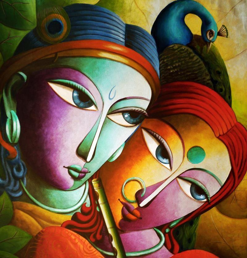 love radha krishna paintings free download hd picture