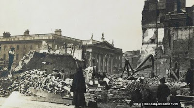 Dublin, Ireland, during the Easter Rising of 1916.