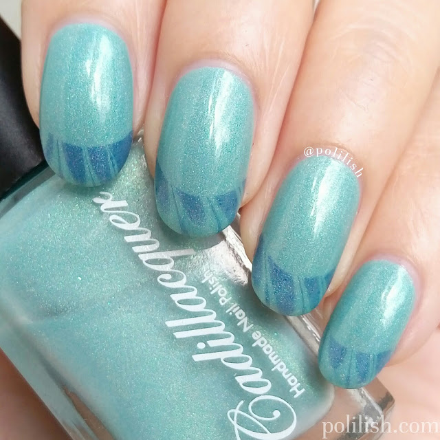 French tip water marble design featuring Cadillacquer | polilish