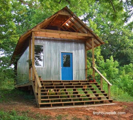 Casa pequeña norteamericana Rural Studio en Auburn University, Alabama, Estados Unidos