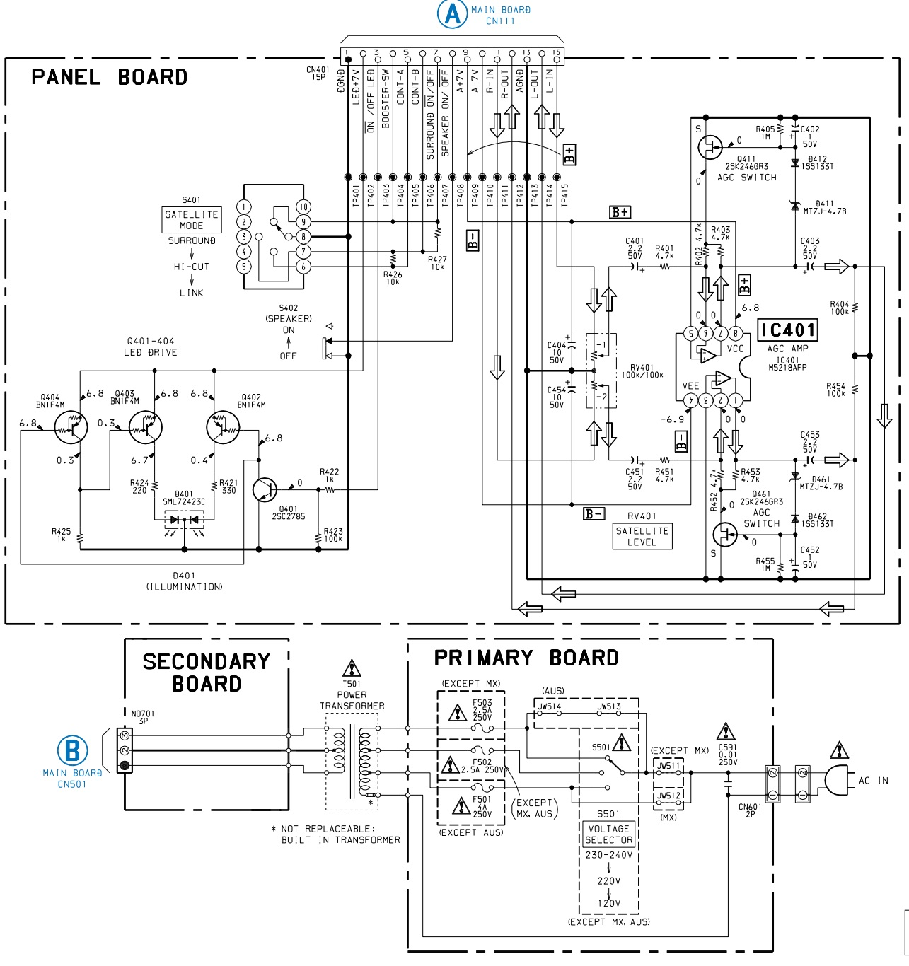 Sony Ta Dx8 Integrated Stereo Amplifier Schematic Exploded View 22 Pin Wiring Diagram Power And Panel Board Pwb