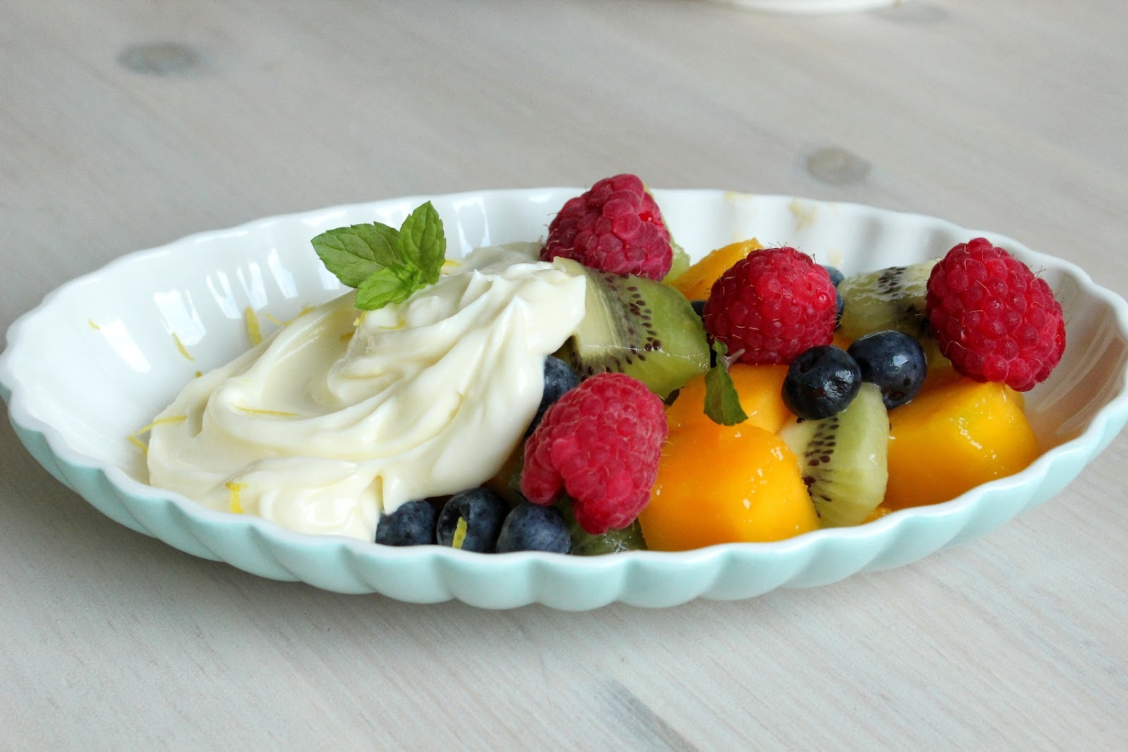 Fruit Salad Recipe Tree with Ice Cream Decoration Ideas ...