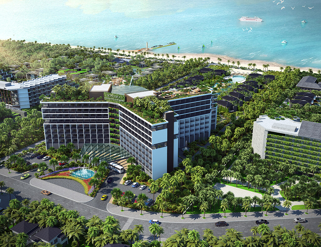 Phối cảnh dự án chung cư Sonasea Condotel Phú Quốc