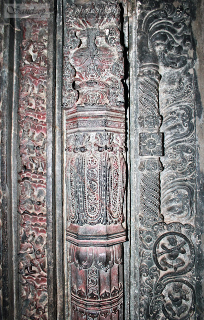 The door Jamb of the garbhagudi of Kashivishwanatha temple, it was about 5 layers here