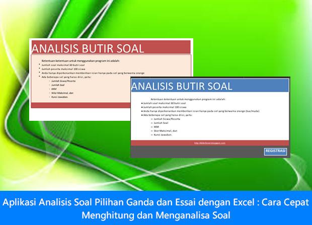 Aplikasi Analisis Soal Pilihan Ganda dan Essai dengan Excel - Cara Cepat Menghitung dan Menganalisa Soal