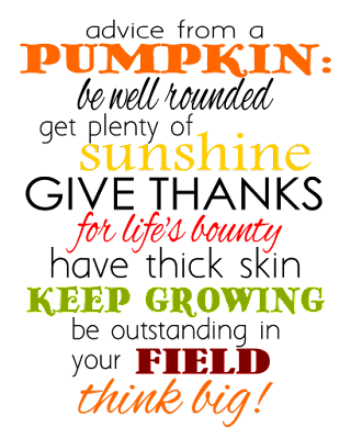 Advice from a Pumpkin printable