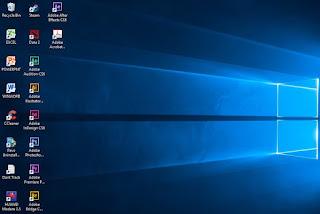 Memperbesar dan Memperkecil Icon Desktop