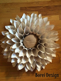 Freebie Craft Project Tutorial: Recycling book pages into a wall hanging wreath