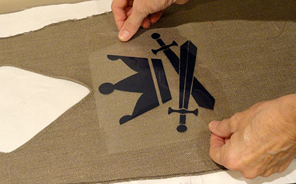 Needles N Knowledge Knight Tunic Crest Heat Transfer Vinyl
