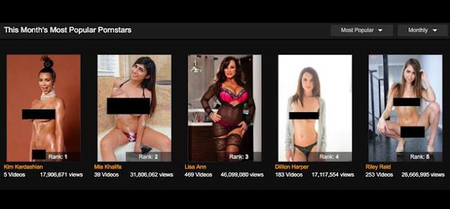 La página Pornhub reveló el nombre de su actriz #1 del Mes