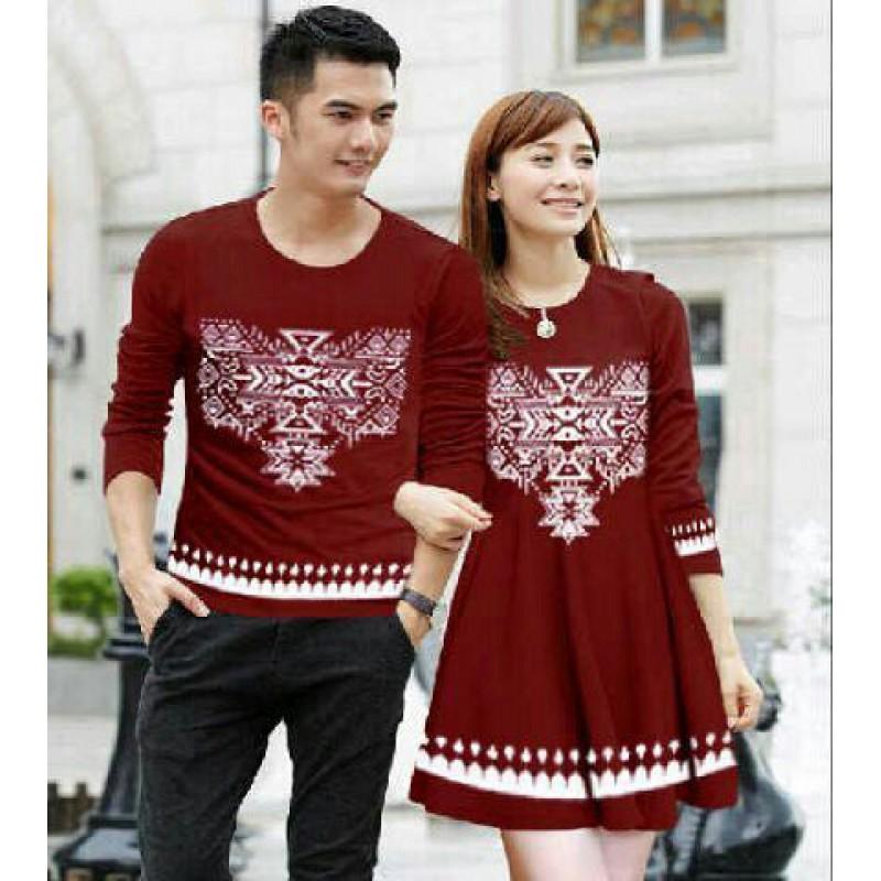 Jual Dress Couple Snow Red - 24243