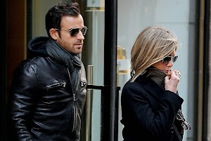 Jennifer Aniston and Justin Theroux at lunch