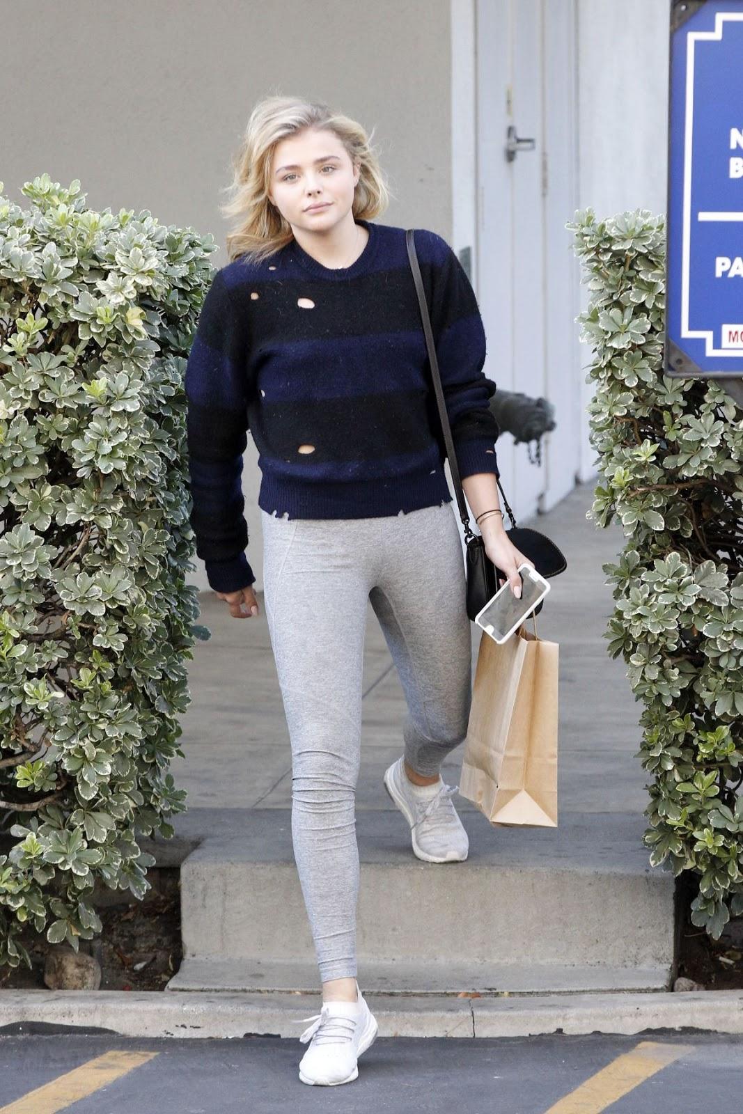 Chloe Moretz Leaves a Dentist's Office
