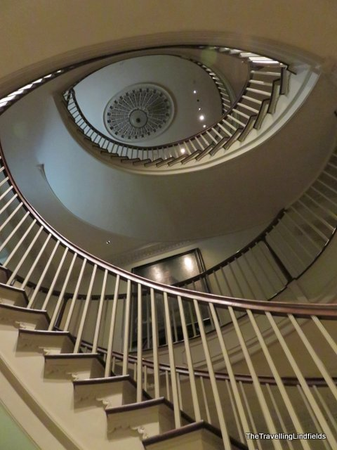 The staircase at Winterthur
