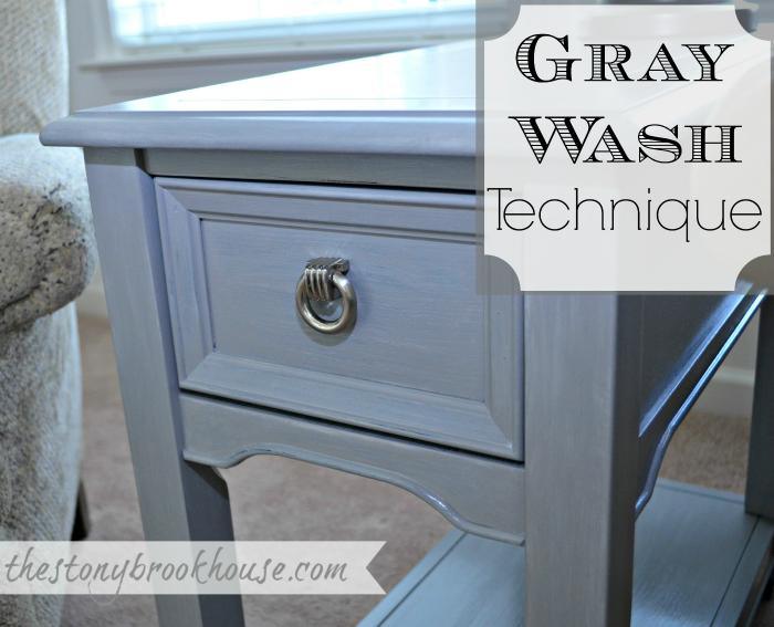 DIY Gray Wash Technique
