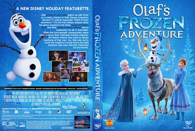 Olaf's Frozen Adventure DVD Cover