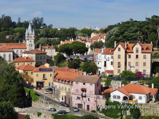 Centro da cidade de Sintra, Portugal