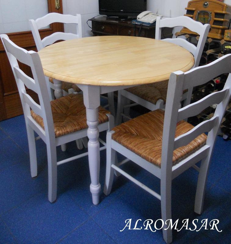 Alromasar mesa y sillas para la cocina de encarna for Mesas y sillas para cocina economica