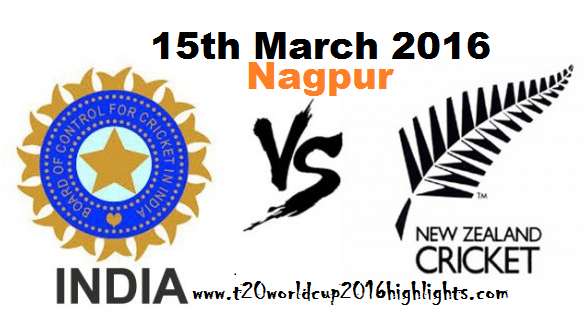 India vs New Zealand Live Highlights Match No. 13th  ICC T20 World Cup 2016