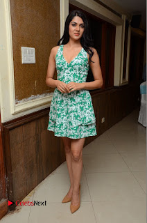 Actress Sakshi Chaudhary Pictures in Short Dress at Selfie Raja Movie Song Launch  0240