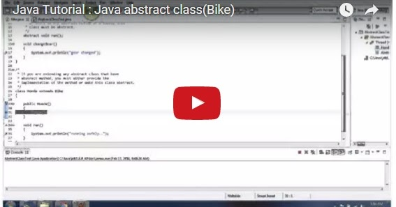 Java ee java tutorial java abstract class bike for Object pool design pattern java example