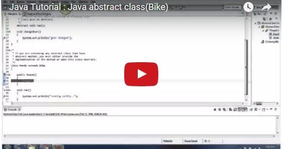 Java ee java tutorial java abstract class bike for Pool design pattern java
