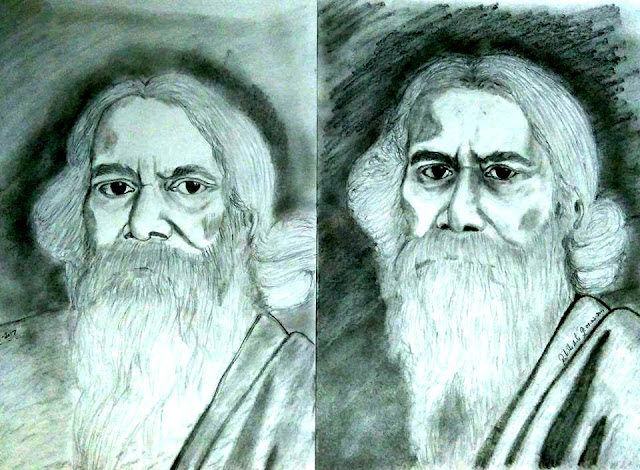 PENCIL DRAWING - Rabindranath Tagore