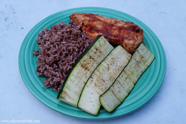 healthy eating, grilled chicken, rice, bbq