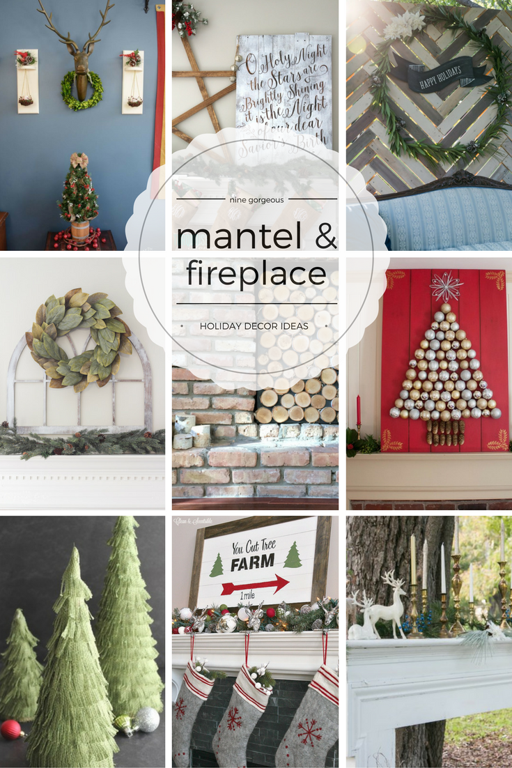 Mantel & Fireplace Holiday Decor Ideas | Dream. Create. Inspire ...