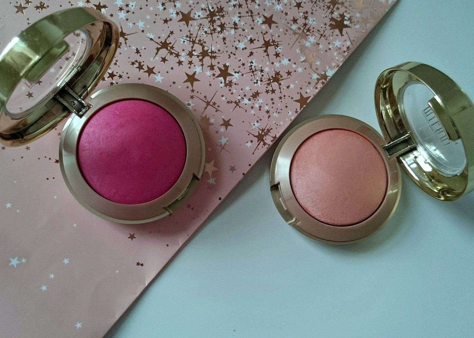 milani baked blushes luminoso and bella rosa review and. Black Bedroom Furniture Sets. Home Design Ideas