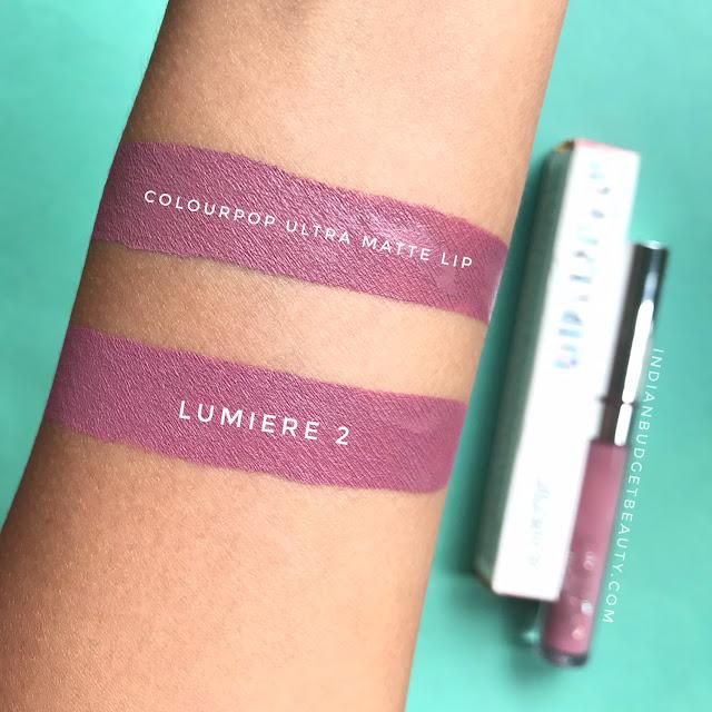 Colourpop Lumiere 2 Ultra Matte Lip hand swatch