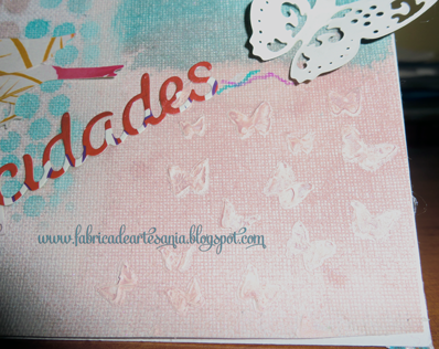 Detalle de mariposas con pasta dimensional