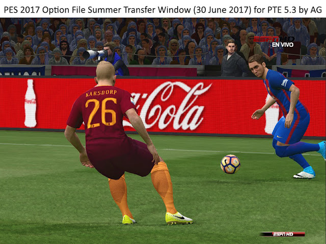 Option File PES 2017 untuk PTE 5.3 update 30-6-2017