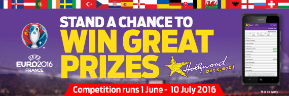 Wing BIG with Hollywoodbets' three Euro 2016 promotions!